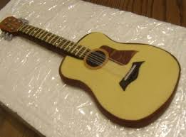 guitar cake topper acoustic fondant guitar cake topper custom color of choice