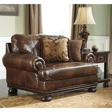 Ashley Furniture Accent Chairs Ashley Furniture Hutcherson Leather Accent Chair And A Half In
