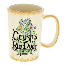 your wdw store disney coffee cup mug crush s big dude surfing co