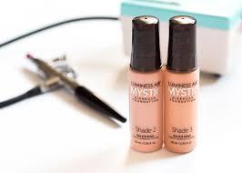 minimal makeup routine using luminess air u0027s mystic foundation