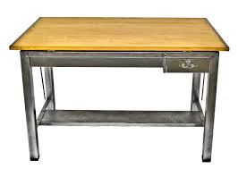 Pull Out Table by Refinished Oversized Vintage American Industrial Salvaged Chicago