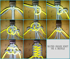 make snake knot paracord bracelet images Mated snake knots on buckle paracord archive jpg