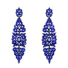 blue chandelier earrings vintage earrings with blue fashion chandelier earrings