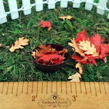 halloween village accessories miniature leaves fall accessories for fairy garden dollhouse