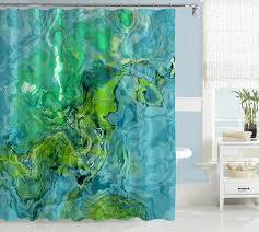 abstract art green u0026 teal shower curtains u2013 abstract art home