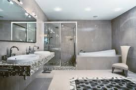 cool modern white black color bathroom design ideas with white
