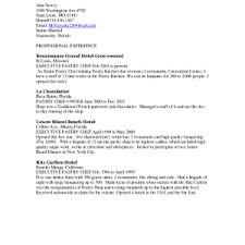 Pastry Chef Resume Sample Chef Cover Letter Sample Resume Ideas Pastry Application X
