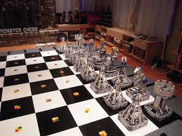 chess set designs monster chess from the robotics posse