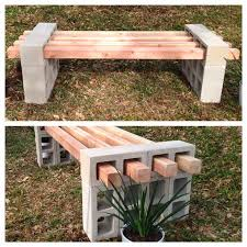 Bench Outdoor Furniture Best 25 Bench Block Ideas On Pinterest Cinder Block Bench