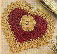 Crochet Heart Rug Pattern Free Over 100 Free Valentine U0027s And Heart Crochet Patterns At Allcrafts