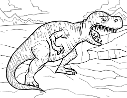 printable tyrannosaurus dinosaurus coloring pages printable for