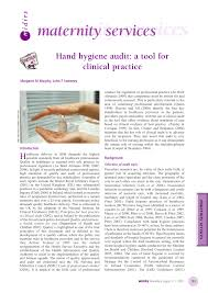 hand hygiene audit a tool for clinical practice pdf download