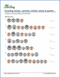 grade 2 counting money worksheets free u0026 printable k5 learning