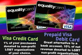 pride and pride credit cards visa debit card