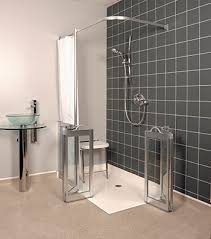 Disabled Half Height Shower Doors Wf12 Left Handed Half Height Bi Fold Shower Doors In Silver