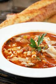 pasta e fagioli soup with italian sausage