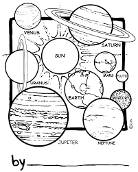 our solar system comprising of the sun its planetary system of
