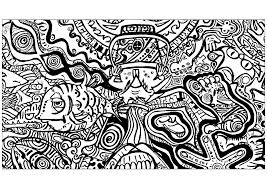 psychedelic coloring pages for adults justcolor