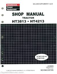 honda ht3813 ht4213 lawn tractor shop manual
