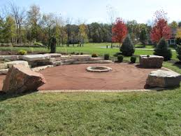 exterior design decomposed granite garden with fire pit design
