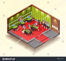 casino isometric design concept gaming room stock vector 607022912