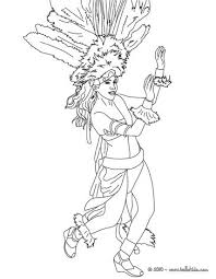rio carnival dancer headgear coloring pages hellokids