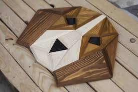 wood geometric wooden zoo geometric animal heads made from wood designwrld