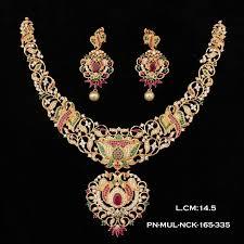 bridal necklace images Designer kolkata filigiri bridal necklace set 250 griiham jpg