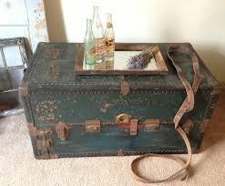 antique steamer trunks make for unique coffee tables vintage