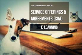 itil intermediate service offerings and agreements e learning