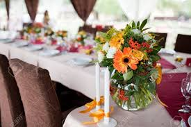 wedding flowers for tables wedding flowers tables set for wedding stock photo picture and