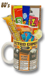 Gamer Gift Basket Retro Gaming Mug With Without A 48k Selection Of 80 S Retro Sweets