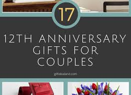 wedding anniversary gift ideas for him 6 12th wedding anniversary gifts for him anniversary gifts for
