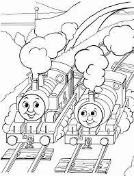 train cartoons children kids coloring