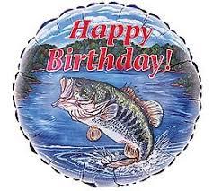 18 bass fish happy birthday fishing balloon