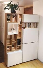 bibliothèque avec bureau intégré bibliothèque meuble de séparation d entrée avec bureau intégré en