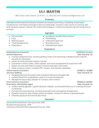 resume exles administrative assistant objective for resume here are resume for administrative assistant sle of executive