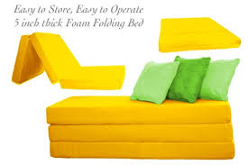 Folding Foam Bed Folding Foam Bed Yellow 5inch Tri Folding The Futon Shop