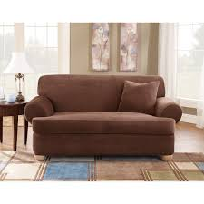 Loveseat Slipcovers With Two Cushions Three Piece T Cushion Sofa Covers Centerfieldbar Com