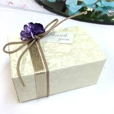 paper blossom flower wedding favour boxes ribbon confectionery
