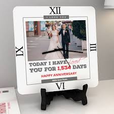 personalized anniversary clock clocks buy clocks online gift delivery in india usa uk