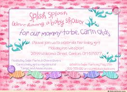 the sea baby shower invitations pink undersea baby shower invitation fish sea splashes girl