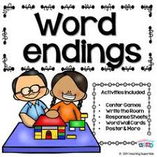 inflectional endings adding ed and ing to base words verbs