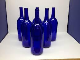 Blue Bottle Vase 6 Cobalt Blue Bottles 1 5 Liter For Crafting
