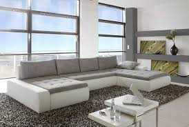 canape gris et blanc grand canapé d angle blanc et gris canapés grand