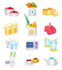 fourniture de cuisine fournitures de cuisine ustensiles de cuisine vecteur icône free
