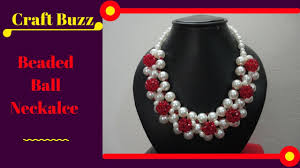 beaded ball necklace images Beaded ball necklace diy project how to make at home video jpg
