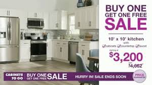 kitchen cabinets for sale cabinets to go buy one get one free sale tv commercial new kitchen
