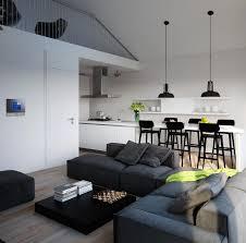decoration interieur cuisine design interieur mezzanine moderne salon salle manger cuisine a