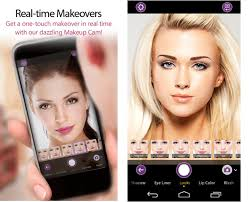 real time makeovers in youcam makeup app